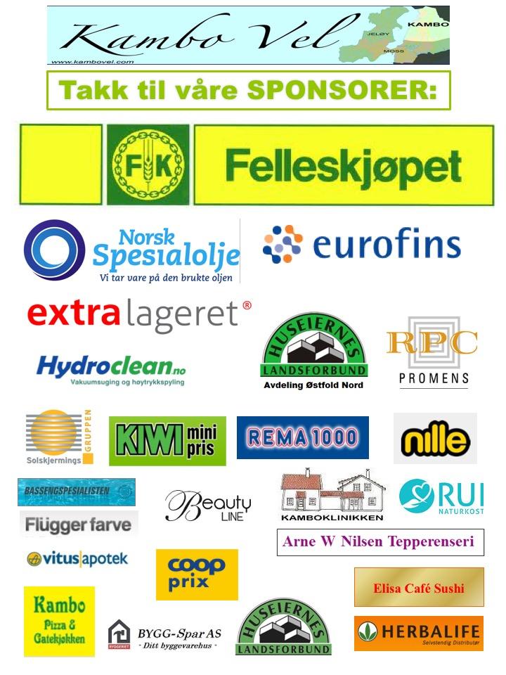Tusen takk til våre sponsorer